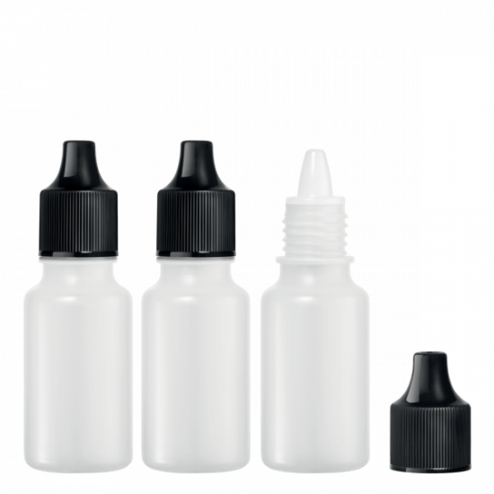 3 Empty dropper bottles 10ml